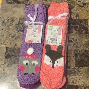 Cozy critter, cozy socks